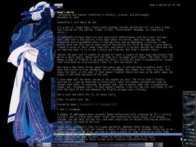 Mandrake Linux 9.1 running the Lynx browser in Fluxbox
